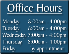 Your Oxford OH dentist hours of operation